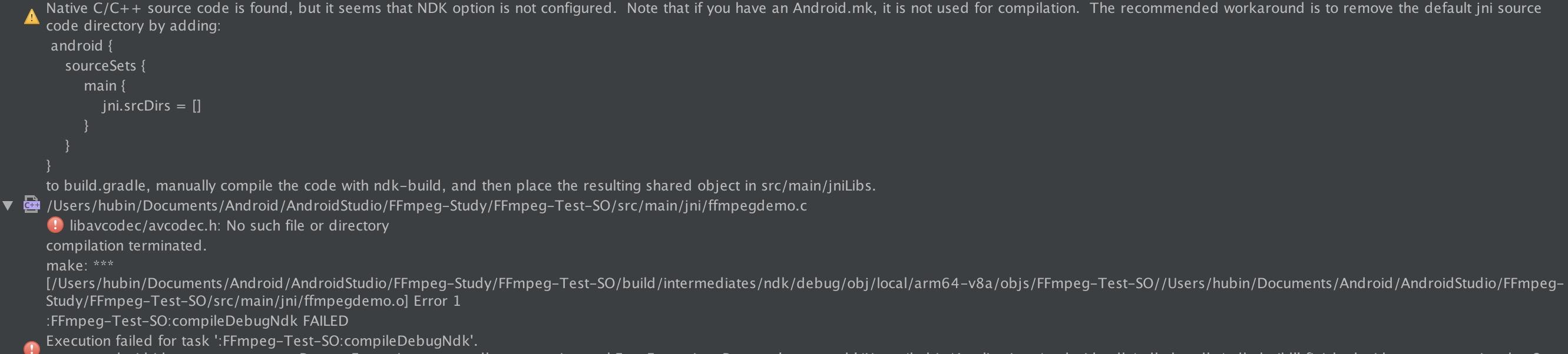 Android最简单的基于FFmpeg的例子(二)---测试编译好的SO库| binglingziyu