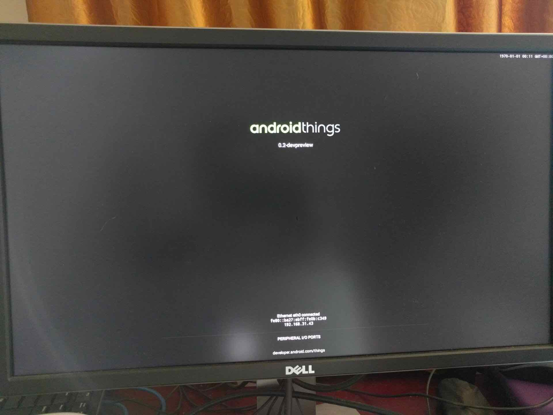 AndroidThings 启动成功